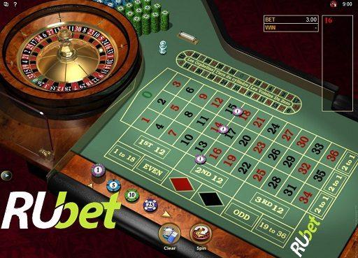 Онлайн рулетка в Рубет казино